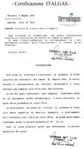 Certificazione ITALGAS - Maurizio Armanetti