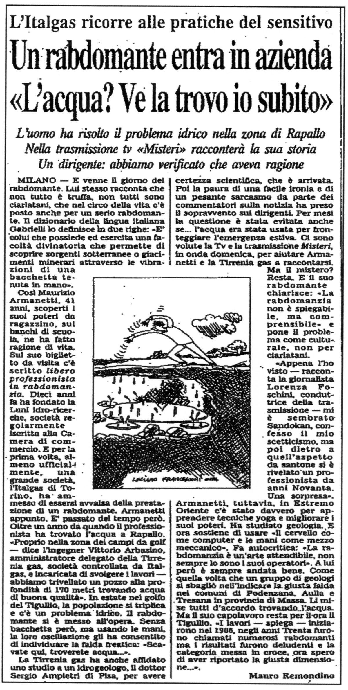 Corriere della Sera Maurizio Armanetti