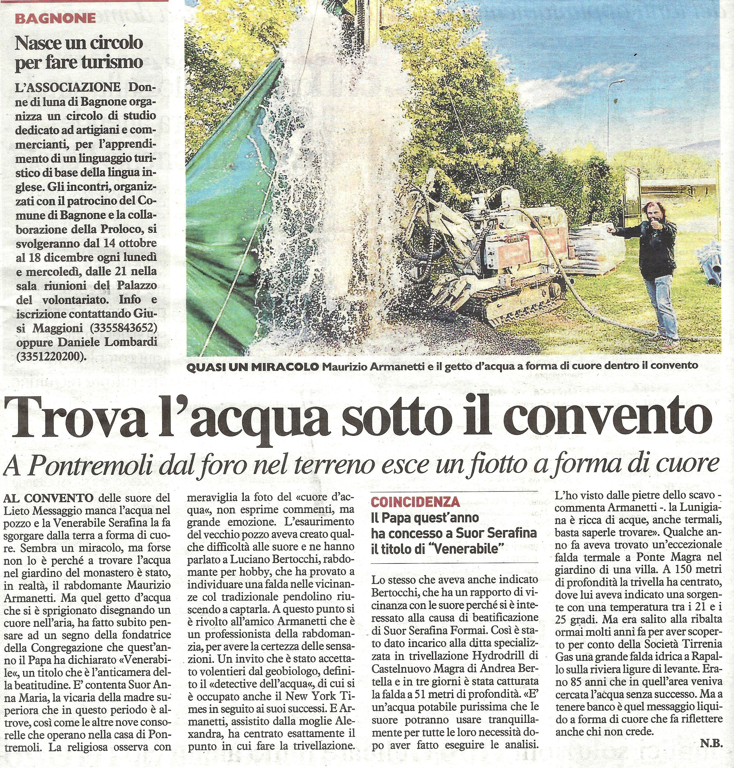 Stampa - La Nazione Armanetti